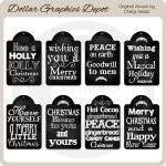 Holly Jolly Chalkboard Tags