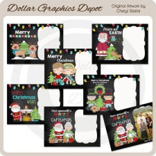 Christmas Chalkboard Cards