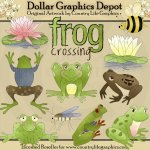 Frog Crossing - Clip Art