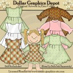 Dress Up Doll Clothes 2 - Clip Art
