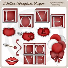 Valentine's Day Elements - Clip Art