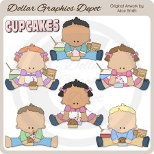 Kids 'n' Cupcakes - Clip Art - *DGD Exclusive*