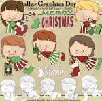 Christmas Angels - Clip Art
