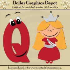 Alphabet Letter Q - Cutting Files / Paper Piecing Patterns