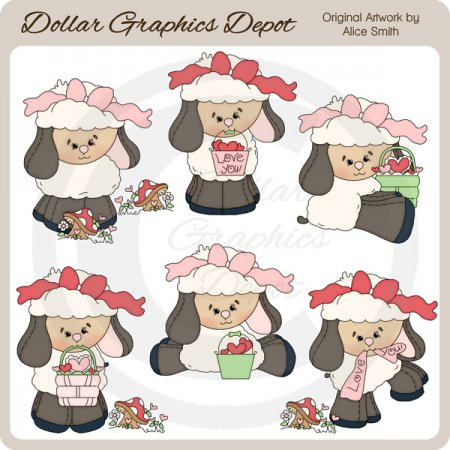 I Woolly Love You - Clip Art - *DGD Exclusive*