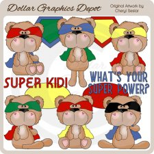BoBo Bear Super Kid - Clip Art