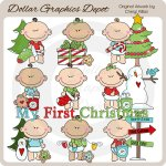 Baby's First Christmas 1 - Clip Art - *DGD Exclusive*