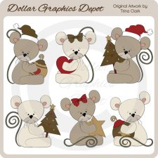 Christmas Mice 2 - Clip Art
