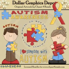 Autism Awareness - Clip Art