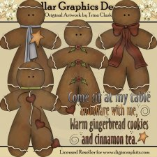 Country Gingerbread - Clip Art