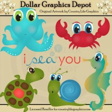 I Sea You - Clip Art