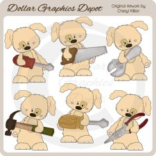 Sweetie Pup - Tool Time - Clip Art