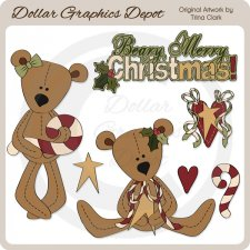 Beary Merry Christmas 1 - Clip Art