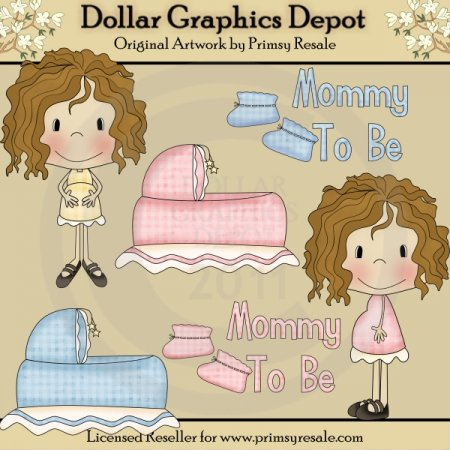 Mommy To Be 2 - Clip Art