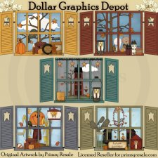 Fall Windows - Clip Art