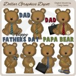 Father's Day Bears 2 - Clip Art