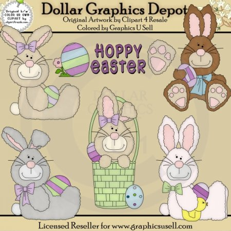 Hoppy Easter - Clip Art