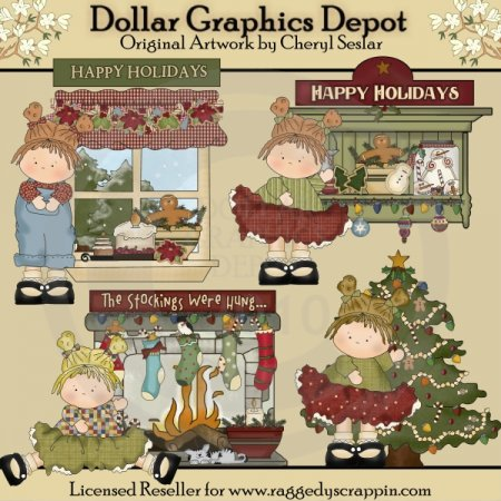 Happy Holidays Little Beauties - Clip Art - *DGD Exclusive*