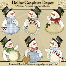 Frosty Fred Sentiments - Clip Art