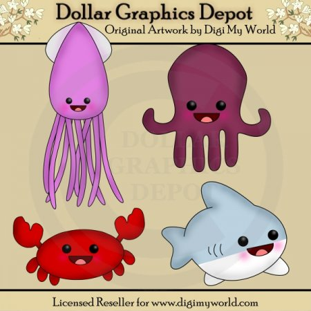 Kawaii Sea Creatures