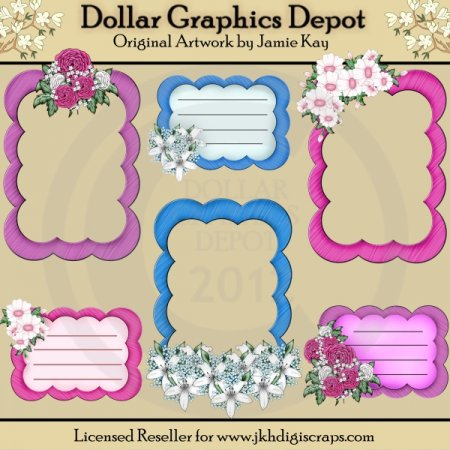 Floral Frames and Journal Tags