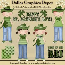 Irish Kids - Clip Art
