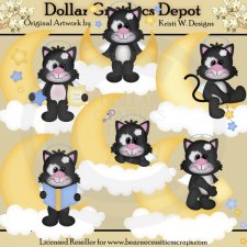 Sweet Dreams Kitty - Clip Art - *DGD Exclusive*