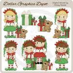 Christmas Elves 1 - Clip Art