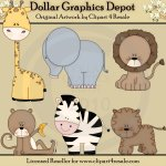 Baby Zoo Animals - Clip Art - *DGD Exclusive*
