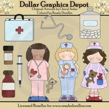 Get Well Nurses - Clip Art
