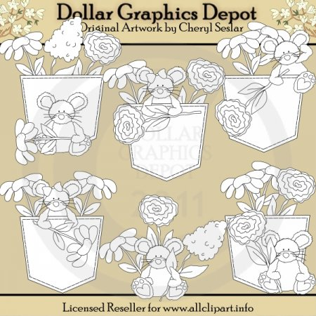 Denim and Blooms - Digital Stamps
