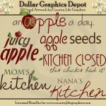 Apple Word Art