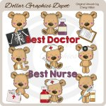 Little Bears - Medical Workers - Clip Art - *DGD Exclusive*