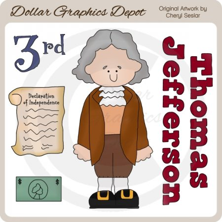 Thomas Jefferson - Clip Art