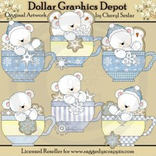 Polar Bears Snowflake Teacups