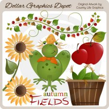 Autumn Fields - Clip Art