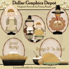 Give Thanks - Ovals - Clip Art