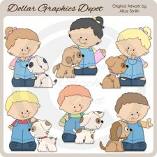 I Love My Puppy - Clip Art - *DGD Exclusive*