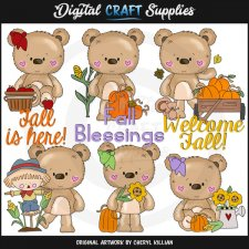 Bernard and Babs - Welcome Fall - Clip Art