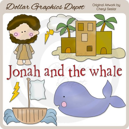 Jonah and the Whale - Clip Art