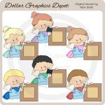Sweet Angel Frames - Clip Art - *DGD Exclusive*
