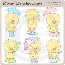 Baby Puddle Ducks - Clip Art - *DGD Exclusive*