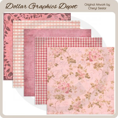 Pretty In Pink - Scrap Papers