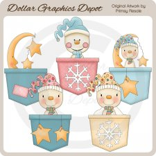 Baby Snow Pockets - Clip Art