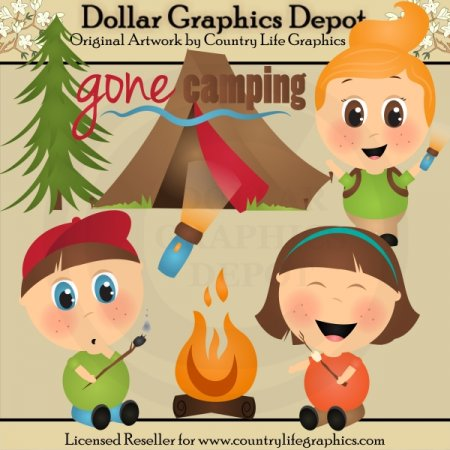 Gone Camping - Clip Art