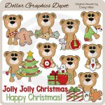 Big Eyed Bears - Christmas - Clip Art - *DGD Exclusive*