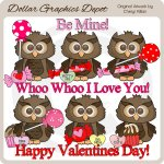 Little Hoot Loves You - Clip Art - *DGD Exclusive*