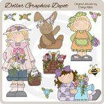 Flower Garden Hodgepodge - Clip Art