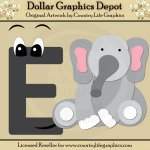 Alphabet Letter E - Cutting Files / Paper Piecing Patterns