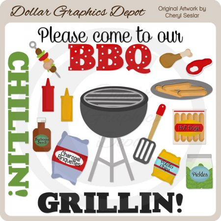 Grillin and Chillin - Clip Art